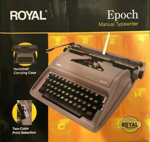 Royal Epoch Manual 88 character Typewriter Gray 79103y Free Shipping