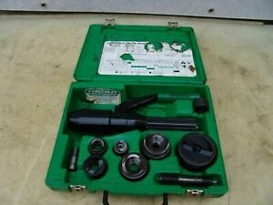Greenlee 7804sb Quick Draw Hydraulic Punch Driver 1 2 To 2 Inch Works Fine 15