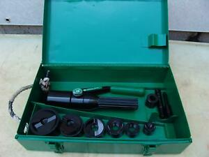 Greenlee 7804sb Quick Draw Hydraulic Punch Driver 1 2 To 2 Inch Works Fine