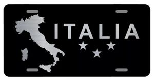 Italy Laser Etched Metal License Plate Italian Pride Flag Gifts Christmas Gift