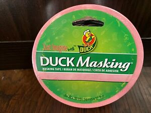 Duck Masking Tape Pink 94 Inch X 30 Yd Roll Brand New buy Multiple And Save