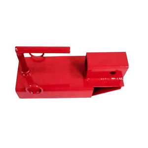 Aleko Clamp On Forklift Hitch Receiver Towing Adapter 2 Inches Red