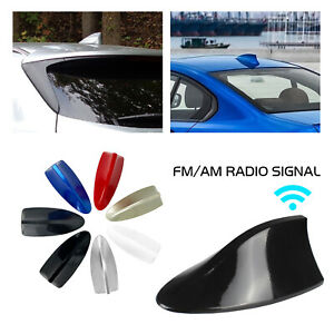 Shark Fin Antenna Receiver Radio Reception Signal Car Amplifier Booster Black