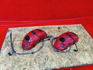 Porsche Cayenne Turbo Gts Front Right Left Brake Brembo Calipers Set Red Oem