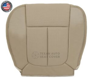 2009 2010 Ford F 150 Lariat Super Cab Driver Bottom Perforated Seat Cover Tan