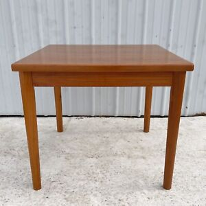 Scandinavian Modern Draw Leaf Teak Dining Table