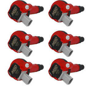 Msd Red Coil For Ford Eco boost 3 5l V6 10 13 Reliable 2 Pin Connector 6 pack