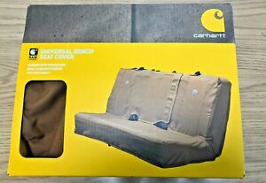 New Carhartt Coverall Universal Bench Seat Cover Tan Fits Most Cars Trucks