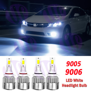 For Honda Civic 2006 2007 2008 2009 2011 4x Led Headlights Bulbs 6000k