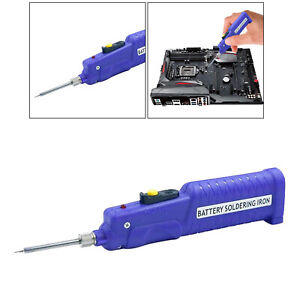 8w Battery Operated Soldering Iron Cordless Solder Pen Tin Wire Tools 450