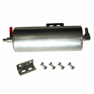 3 X 8 Polished Stainless Steel Radiator Coolant Overflow Puke Tank Can 20 Oz