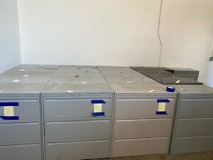 lot Of 15 Hon Lateral Filing Cabinets On Trailer At Tahoe Can Deliver
