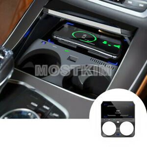 Wireless Car Charger Phone Charger Plug And Play For Bmw X5 X6 G05 G06 2019 2021