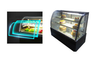 Bakery Display Case Countertop Various Dessert Case 220v Curved Glass 210075