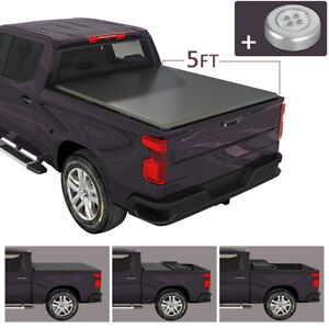 Soft Tri fold Tonneau Cover For 2019 2020 Ford Ranger 5 Ft Short Truck Bed