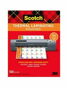 Scotch Thermal Laminating Pouches 100 pack 8 9 X 11 4 Inches letter Size Sheets