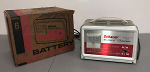 Vintage Schauer 6 amp Automotive 6 12 Volt Battery Charger Model B6612 Usa