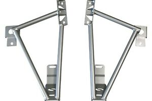 Steeda 3 Point Frame Rail Torque Box Brace For 05 12 Ford Mustang Hardtop Only