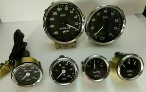 Smiths 52mm Kit Temp Oil Temp Fuel Amp Gauge Speedometer Tachometer Replica