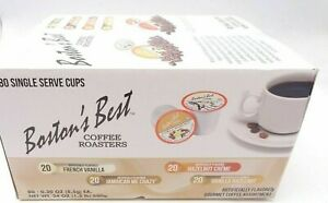 Boston#x27;s Best Single Serve K Cup Flavored Coffee Assortment 80 Count $30.99