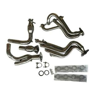 1 7 8 Long Tube Exhaust Header Y Pipe Kit For 99 06 Chevy Gmc Pickup Truck Suv