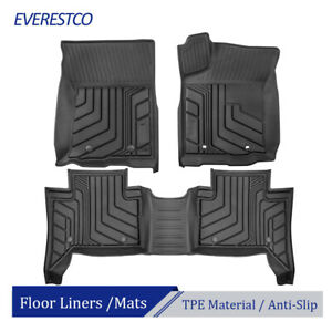 3pcs Tpe Rubber Floor Mats Liners Foot Pad For 2016 2021 Toyota Tacoma Trd Pro