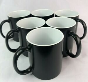 6pcs 11oz Blank Sublimation Full Color Changing Mugs Magic Cup Black glossy