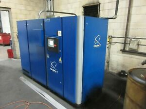 Used 2013 Quincy Variable Speed Rotary Screw Air Compressor Vfd 40hp 180cfm