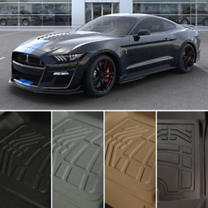 Floor Mats Front Second Back Row For 2015 2021 Ford Mustang Shelby Gt350 gt350r