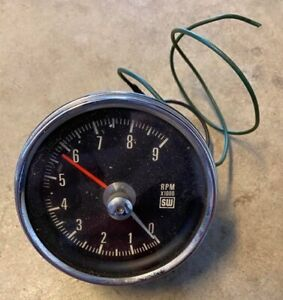 Stewart Warner Tach Mechanical Cable Drive 9k Vintage Tachometer