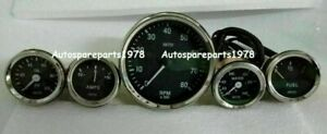 Smiths Replica 52mm Kit Temp Oil Fuel Amp Gauge Tachometer 100mm