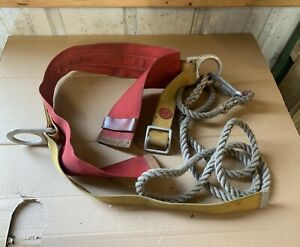 Vintage Atlas Safety Equipment 246 Linemans Utility Tool Belt Pole tree Climbing