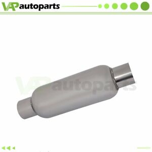 2 25 Inlet Outlet Stainless Exhaus Muffler Resonator 14 Inch Total Length