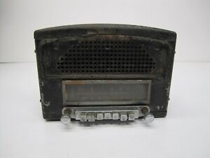 Vtg 1940s 1949 50 Mopar 803 Plymouth Car Am Tube Radio Built In Speaker As Is