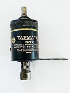 Tapmatic 50x Reversible Tapping Attachment Head 1 2 Shank 6 1 2 Cap 1500 Rpm