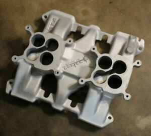 Say Why And Intake 1949 62 Cadillac Hot Rod Weiand Manifold 2x4 Dual Quad