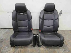 2015 15 Escalade Front Seats Leather Black Power Heated Driver Passenger Esv Row