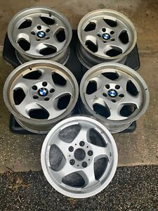 Bmw E34 M5 Throwing Star Style 21 Forged Wheels M System Ii 17 x8