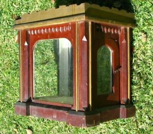 Antique 19th c Vtg Tabletop Countertop Wood Glass Display Case Cabinet As Is