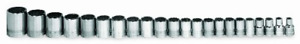 Williams Msb 20hrc 20 piece 3 8 inch Drive Metric Shallow 6 Point Socket Set