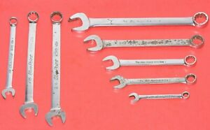 Blue Point 8 Piece Sae Short Long Flank Drive Combination 12 Point Box Wrenches