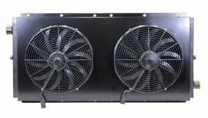Mobile Hydraulic Oil Cooler 0 120 Gpm 60hp Dual 24v Fans With Or Without Bypass