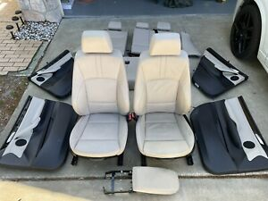 Bmw X3 F25 11 17 Sport Oyster Leather Interior Complete Full Seats Door Panels