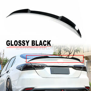 For Toyota Camry 2018 2021 Glossy Black Jdm M4 Style Rear Trunk Lip Wing Spoiler