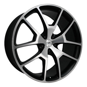 22 Inch 5x114 3 Wheel Rim 22x10 15mm Black Machined Fathom Designs