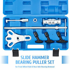 Omt 8pc Rear Axle Seal Bearing Puller Set Slide Hammer Kit W Yoke Hook Adapters