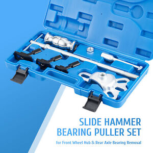 Omt 8pc Slide Hammer Rear Axle Puller Kit Seal Remover Bearing Removal Tool Kit