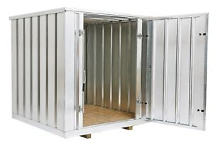 Western Galvanized Steel Storage Shed container 6 5 Ft W X 7 Ft L X 7 25 Ft H