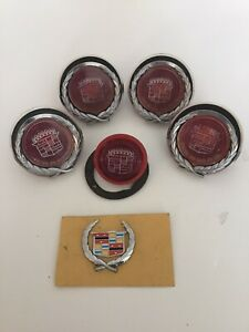 1967 68 Cadillac Eldorado Parts Rear Side Marker Lights Set Of 4 Emblem