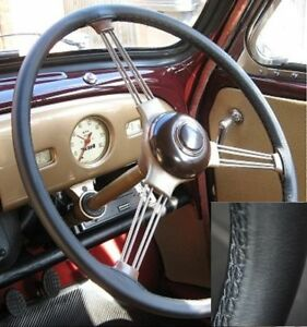 For Ford V8 Pilot Top Quality Italian Leather Steering Wheel Cover 1947 1951 New